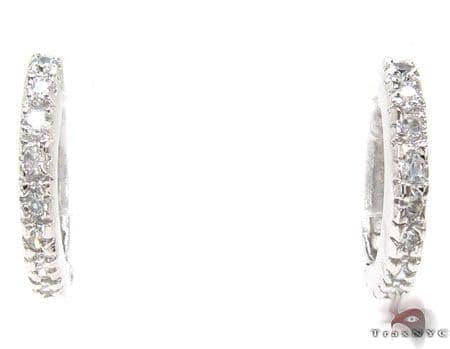 CZ Sterling Silver Huggie Earrings Metal