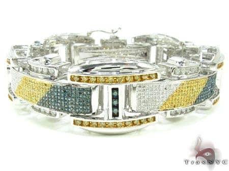 Tri Color Stripped Bracelet Diamond