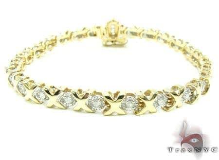 Womens Jewelry Unique Bracelets Diamond Yellow Gold Xo Bracelet
