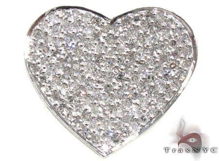 Small Icy Heart Pendant Stone