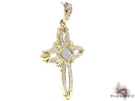 Yellow Gold Regal Cross Diamond