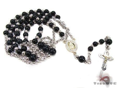 Diamond & Gold Rosary Chain and Cross Rosary