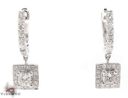 Square Design Earrings Stone