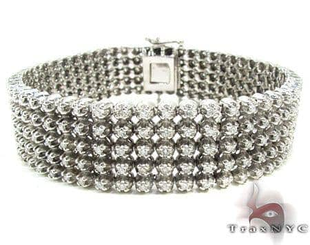 5 Row Bracelet 1 Diamond