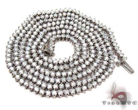 Diamond Ice Chain 30 Inches, 4mm, 33.90 Grams Diamond Chains