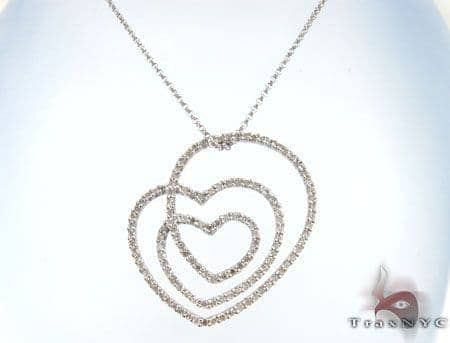 Swirl Heart Necklace Stone