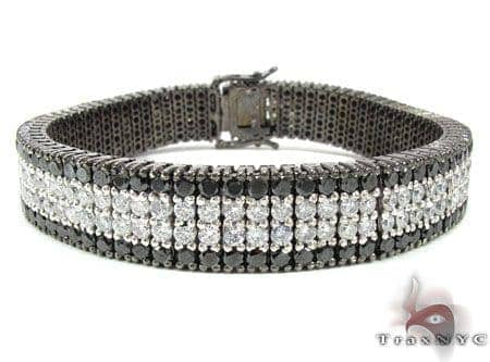 Black and White Diamond Paulie Bracelet 2