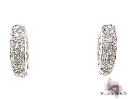 Ladies Sterling-Silver Earrings 19048 Metal