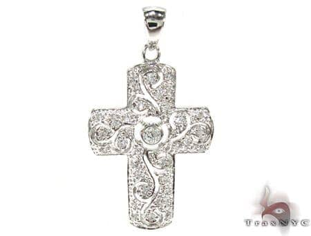 Pave Cross Sterling Silver Pendant 2 Style