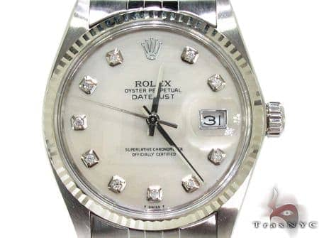 Rolex Datejust Steel and White Gold 178274 Diamond Rolex Watch Collection