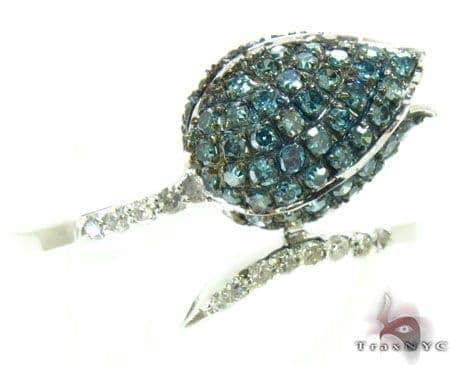 Blue Flower Ring Anniversary/Fashion