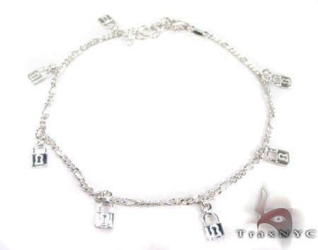 Ladies Silver Charm Bracelet 19616 Silver & Stainless Steel