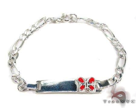 Childs Silver ID Bracelet 19618 Silver & Stainless Steel