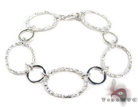 Ladies Silver Bracelet 19620 Silver & Stainless Steel