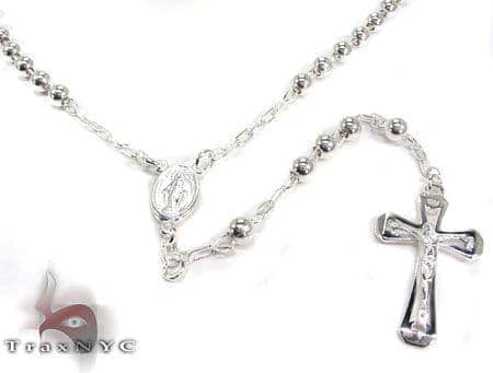 Small Silver Rosary Chain Silver