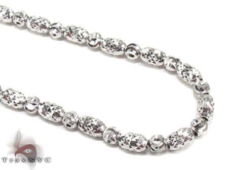 Thin Moon Cut Chain 24 Inches 2mm 15.4 Grams Gold