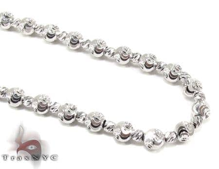 Moon Cut Chain 18 Inches 4mm 13.4 Grams Gold
