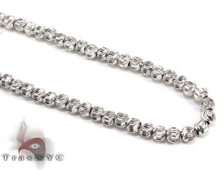 Moon Cut Chain 18 Inches 3.5mm 10.7 Grams Gold
