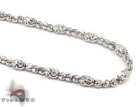 Thin Moon Cut Chain 18 Inches 2mm 9.7 Grams Gold