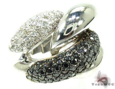Black and White Diamond Ring 19859 Anniversary/Fashion