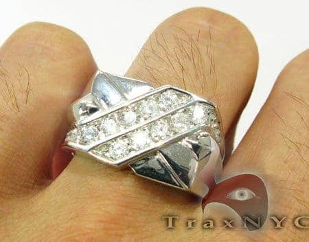 Channel Set Cross Ring Stone