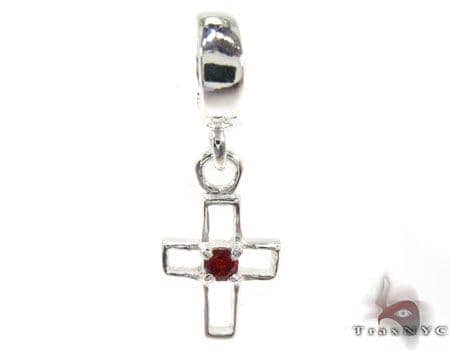 Small CZ Sterling Silver Cross Style