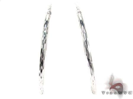 Sterling Silver Hoop Earrings 20030 Metal