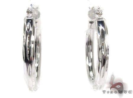 Sterling Silver Hoop Earrings 20033 Metal