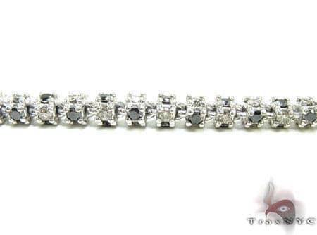 Black and White Diamond Chain 32 Inches 4mm 73.1 Grams Diamond