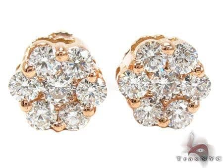 Rose Gold VS Floweret Studs Stone