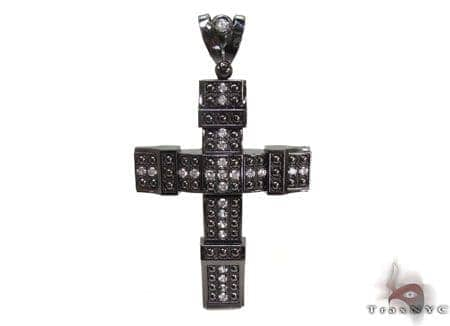 Black Silver Cross 20243 Silver