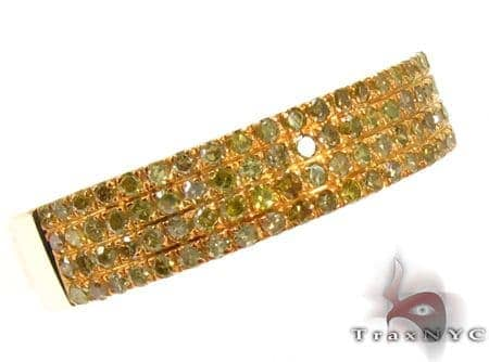 4 Row Canary Diamond Ring 20435 Anniversary/Fashion