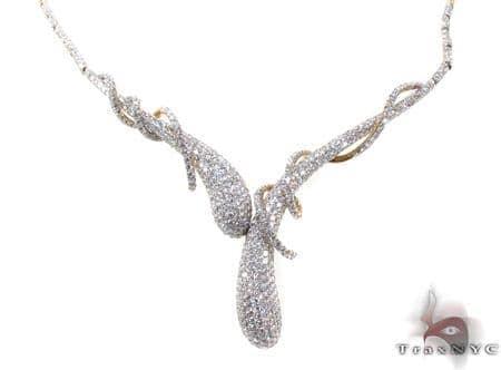 Yellow Gold Diamond Illusion Necklace 20532 Diamond