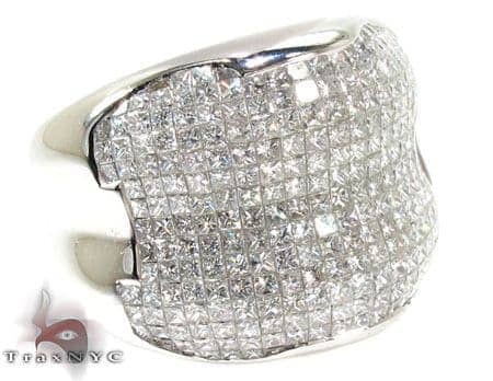 Mens Invisible Diamond Ring 20625 Stone