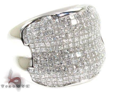 Mens Invisible Diamond Ring 20625 Stone