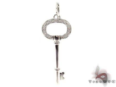 Ladies Diamond Key Pendant 20764 Style
