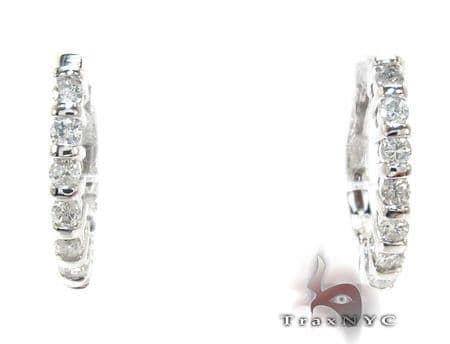 Ladies Prong Diamond Earrings 21208 Stone