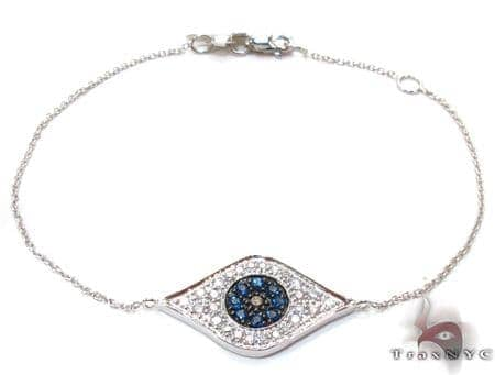 Ladies Evil Eye White Gold Two Color Diamond Bracelet 21296 Diamond