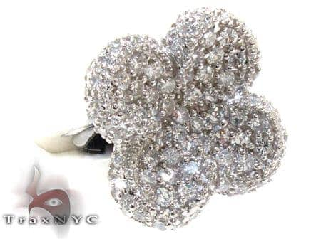 Clear Pave CZ Flower Ring 21317 Anniversary/Fashion