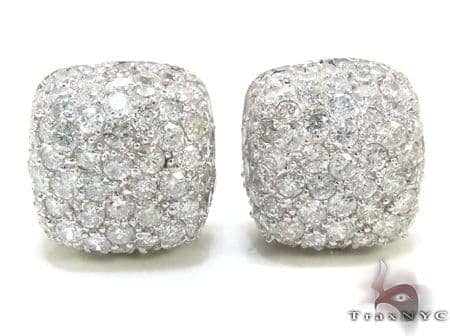 Diamond Pillow Earrings 21332 Stone