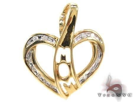 Ladies Diamond Heart Pendant 21497 Stone