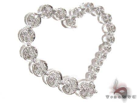 Ladies Prong Diamond Heart Pendant 21522 Stone