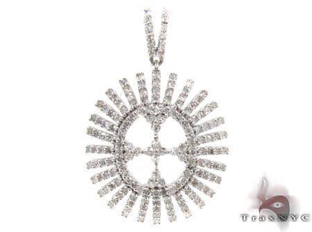 Ladies Prong Bezel Diamond Pendant 21530 Stone