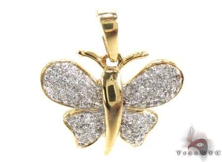 Ladies Butterfly Diamond Pendant 21535 Stone