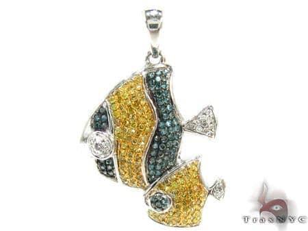 Ladies 3 Color Diamond Pendant 21538 Stone