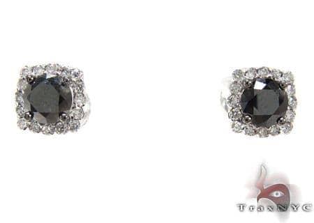 Ladies Prong Diamond Earrings 21589 Stone