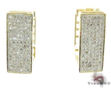Ladies Micro Pave Diamond Earrings 21623 Stone