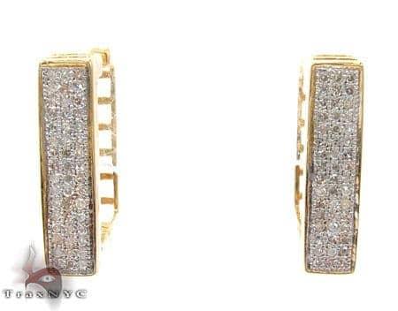 Ladies Micro Pave Diamond Earrings 21624 Stone