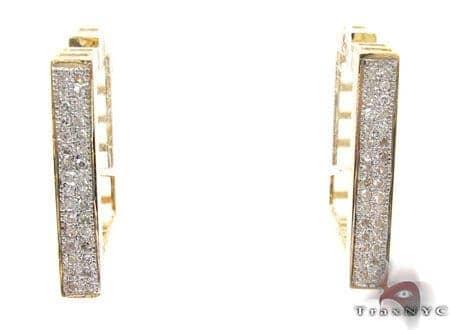 Ladies Micro Pave Diamond Earrings 21625 Stone