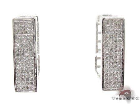 Ladies Micro Pave Diamond Earrings 21627 Stone
